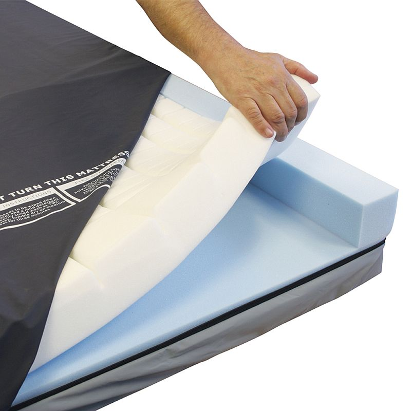 CMHR foam insert provides comfort and pressure relief